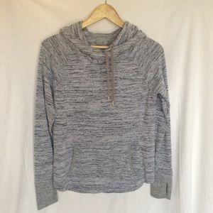 Athleta gray cowl Neck cozy hoodie sweatshirt s
